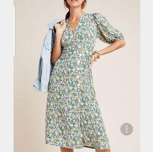 Faithfull the Brand Marta Midi Wrap Dress Size 2